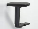 Height adjustment armrest with PU pad