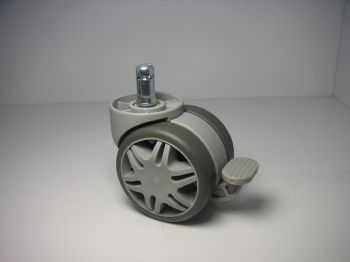 60mm gray soft castor with brake pedal, TAB4560USZG148