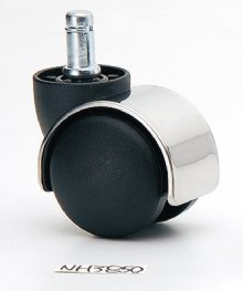 50mm PU steel shield casters